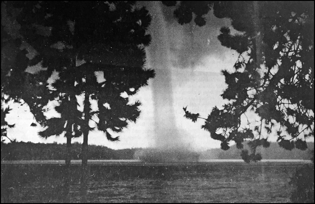 THROWBACK THURSDAY: Water spout threatens Loon Lake area in 1994