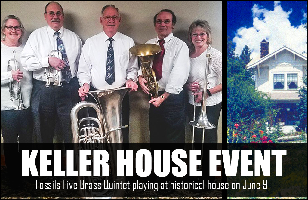Fossils Five Brass playing at Keller House Music Event