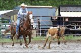 ARDEN OLD TIMERS RODEO Roughin' it  in the rain