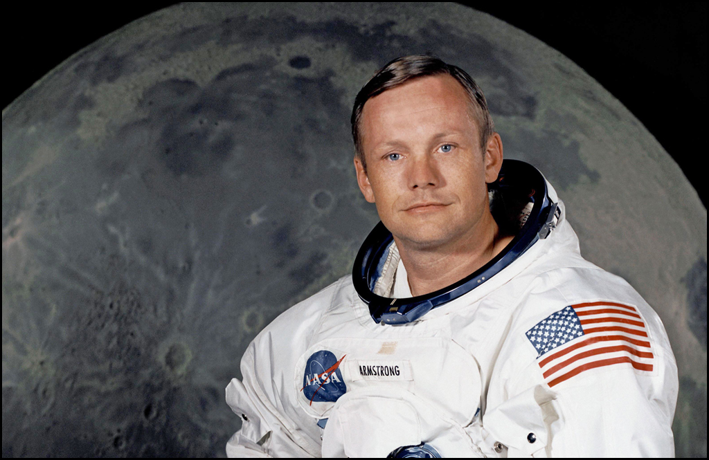GREAT AMERICANS: First man on the moon, Neil Armstrong