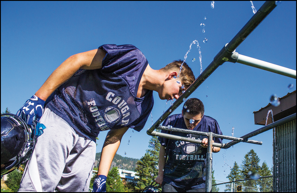 HOT STOVE SUMMER: Hydration and football practice