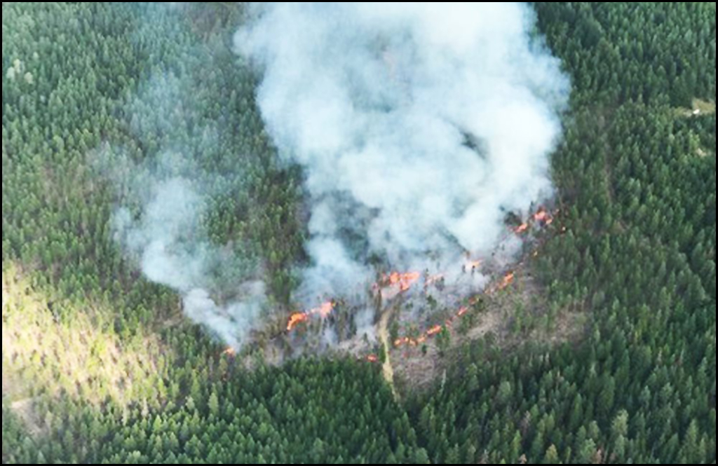 North Mill Creek Fire north of Colville now at 497 acres