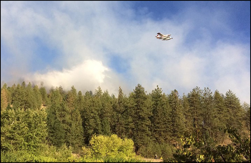 Firefighters line two fires in Kettle Falls area