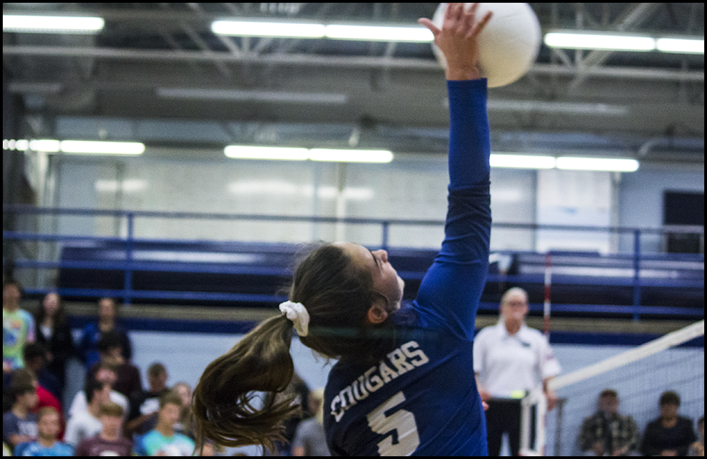 VOLLEYBALL: Short-handed Cougars down 1A Deer Park