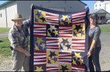 US Marine Corps vet wins patriotic quilt
