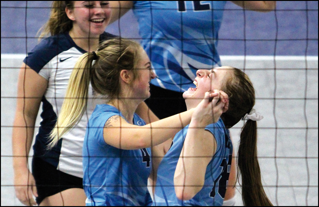 STATE VOLLEYBALL: Cougars win one at state