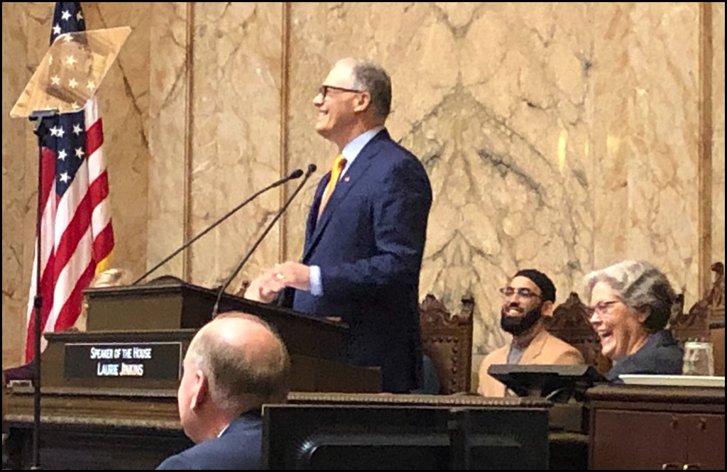 STATE OF THE STATE: Governor talks up state's positives, notes areas to improve