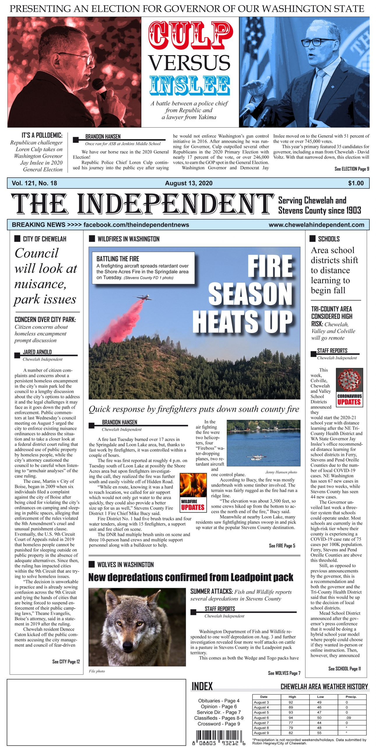 Here is today's print edition of The Chewelah Independent, which you can subscribe to for $30 a year by emailing theindependent@centurytel.net or calling 509-935-8422.