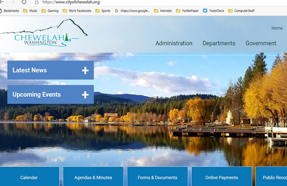 City of Chewelah gets new website