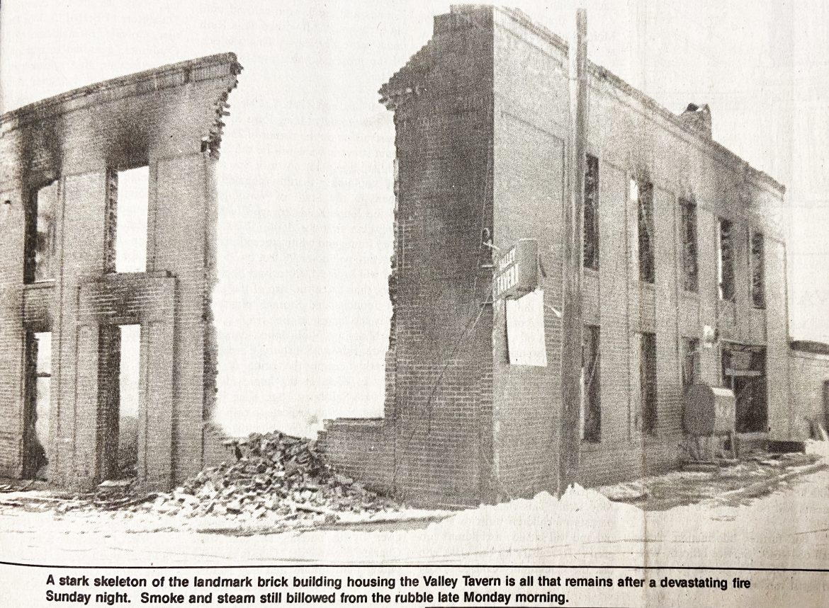 REMEMBERING: The night the historic Valley Tavern burned down