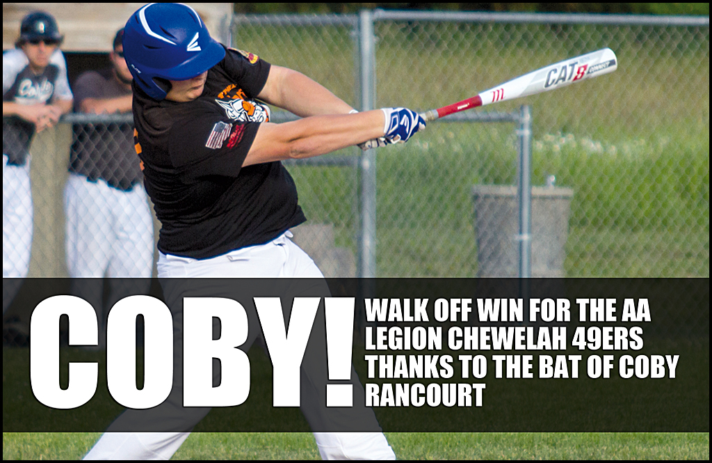 COBY! Rancourt delivers walk-off hit for victory against Colville