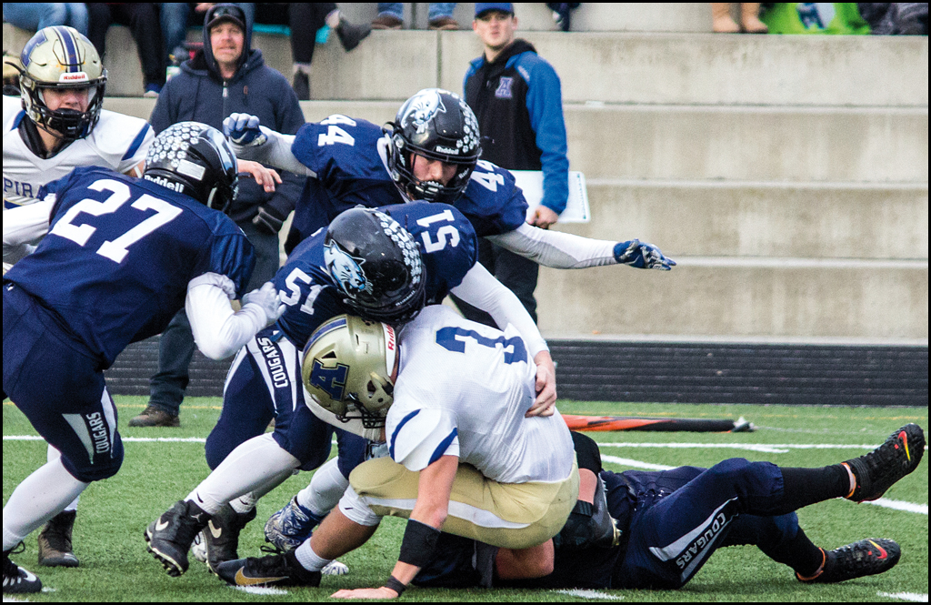 STATE 2B FOOTBALL QUARTERFINALS: Cougars fall to Pirates, 35-13